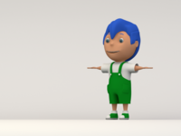 Cute 3D Boy Character