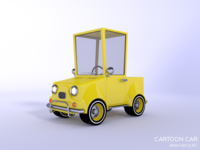 Cartoon Car made in Blender 3D