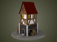 Texture Painting a Medieval Building