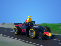 Cartoon Styled Formula One Car
