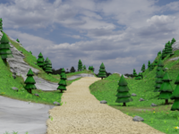 Mountain Road Environment Test