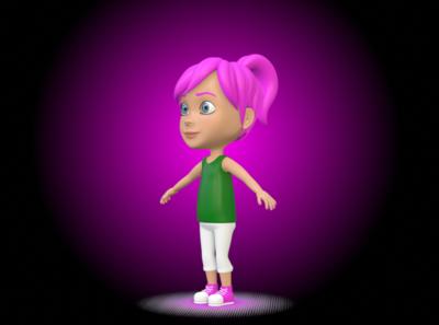 Cartoon Girl Character Animation