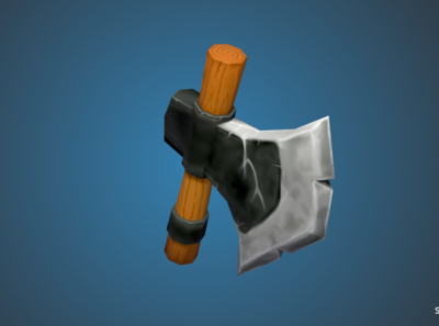 Low Poly Stylized Ax
