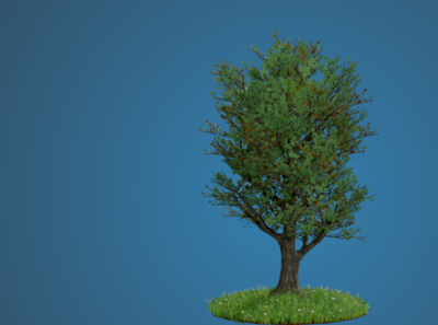 Realistic Tree made with Blender 2.8