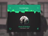 (Pure Metal) Radio Card israel practice card radio challange ui