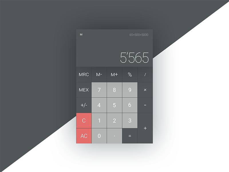 #3 :: Calculator daily-ui flat calculator daily ui ui