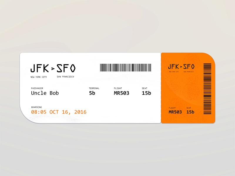 Daily UI :: 23 - Boarding pass israel boarding pass flat daily ui dailyui
