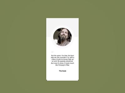 Daily UI :: 35 - quote testimonials flat daily ui dailyui