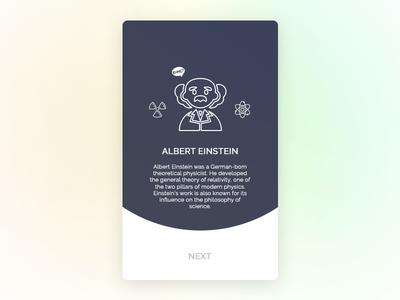 Einstein israel fun science einstein card