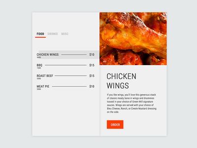 Daily UI :: 39 - Menu israel menu food flat daily ui dailyui