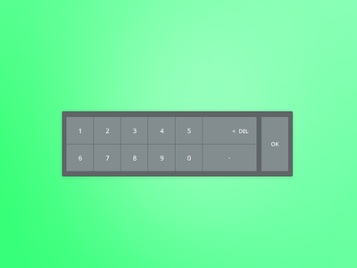 Keyboard israel flat ui keyboard numeric keypad