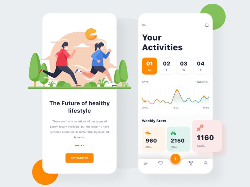 Activity Tracker fitness fitness app activity sports app app design app sports activity tracker