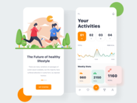 Activity Tracker fitness fitness app activity sports app app design app sports activity tracker