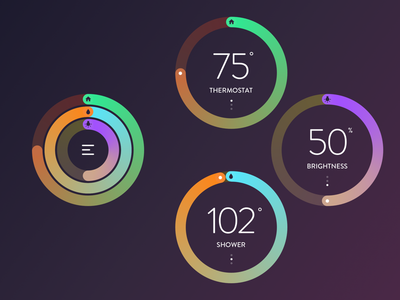 Daily UI 007 Settings daily ui apple watch settings tech thermostat temperature watch apple nest