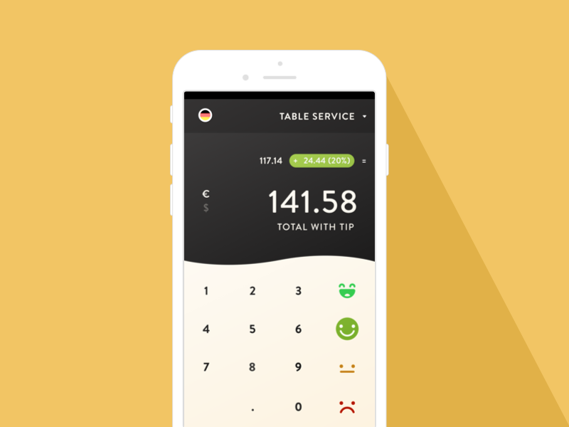 Daily UI 004 Calculator tip calculator daily ui travel tip calculator ui daily