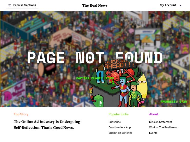 Daily UI 008 404 captain planet page not found daily ui news gamification game 404 ui daily