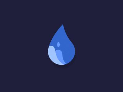 Waterdrop logo concept