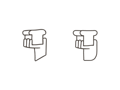 To Bread, or not to Bread toast bread hand logo