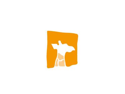 Giraffe giraffe orange logo