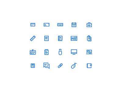 Icons line icons set icons