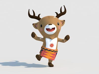 Atung 3d model mascot asian games 3d character 3d animation character