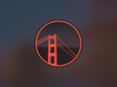 Badge WIP badge bridge golden gate golden gate red orage circle collective ray collectiveray