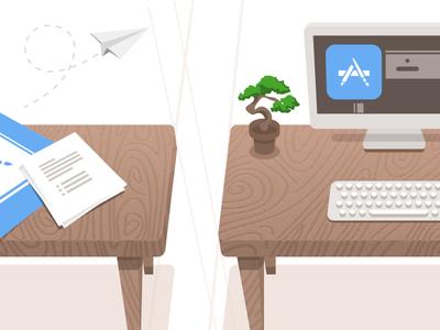 Desks Illustration