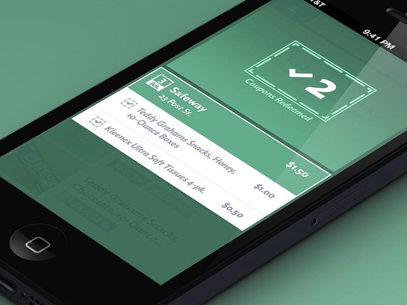 Redeemed Mobile UI redeem iphone retina device ui interface design mobile