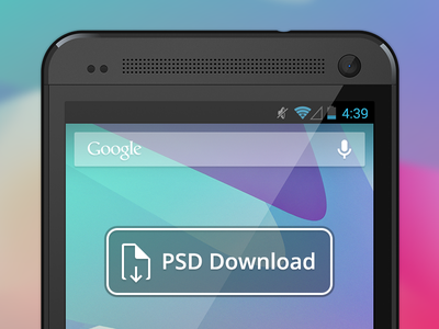 Vector HTC One PSD Download psd download phone device android htc one free freebie