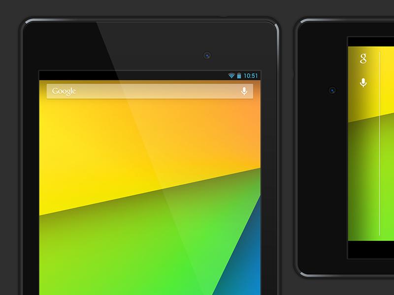 Vector Nexus 7 Free PSD by Jeff Broderick on Dribbble
