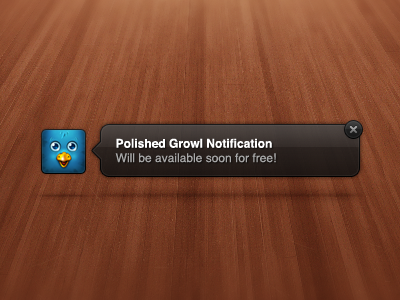 Growl Notification growl notification polished