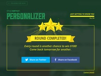 Personalizer: Round Complete Web UI