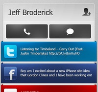 CardFly iPhone Interface