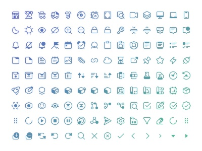 Over a hundred tiny, pixel perfect, 1px thick line icons system micro tiny small line pixel icons