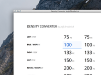 Density Converter for iOS & Android