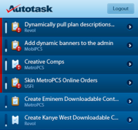 AutoTask iPhone Concept