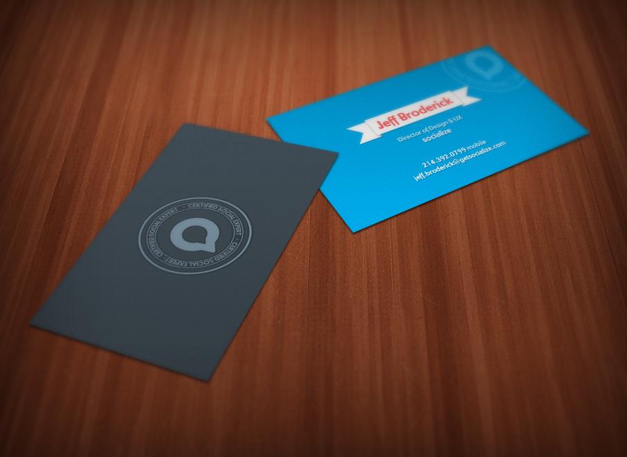Socialize cards large