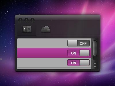 Dark UI - Updated PSD dark ui interface free download rocker icons settings tableview scrollbar progress bar cloud psd