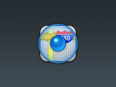 Location Icon V2 location icon blue iphone retina