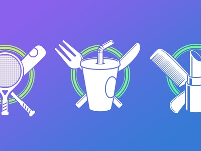Category Icons WIP category icons vector flat food drinks fashion sports baseball tennis drink lipstick