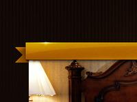 Gold banner nav