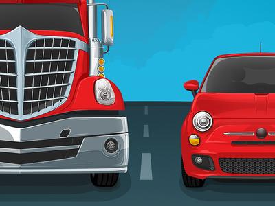 Street Vector Illustration hd street sky bright illustration vector car truck
