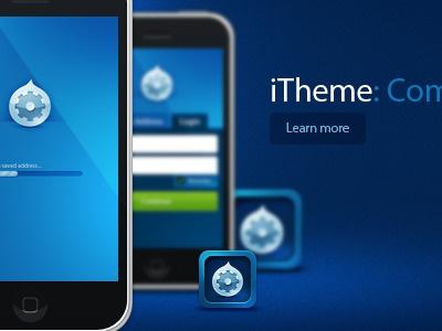 iTheme Banner icon iphone drupal blue