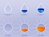 Water and Sun progress icons [old work]