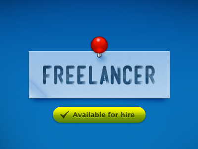 I am now a full-time freelancer! mensch pin blue available design ux ui interface freelancer green hire