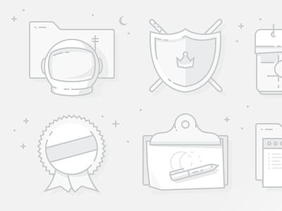 Mini Modal Illustrations modal grey icon line weebly illustration