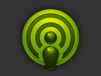 Green Icon icon green spotify vector