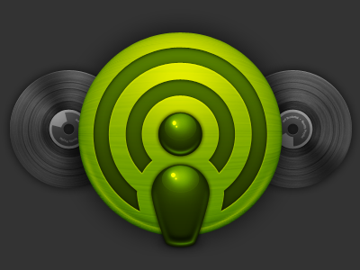 Green Icon green texture record spotify vector
