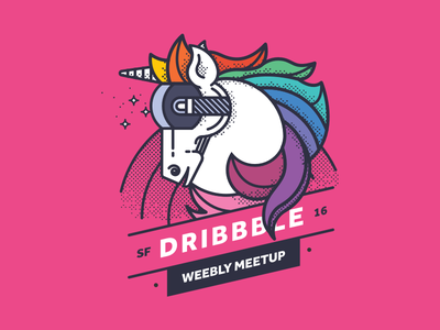 Weebly Dribbble Meetup in a Different Reality! fun beer unicorn meetup dribbble weebly