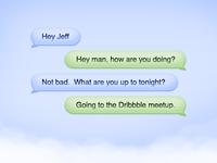 Cloud Chat Bubbles